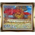 Pierre-Auguste Renoir Duck Pond Hand Painted Framed Canvas Art