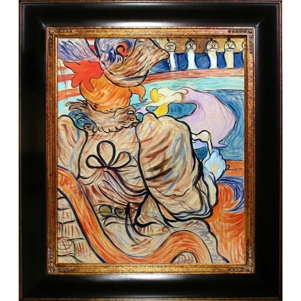 Henri de Toulouse-Lautrec At the Nouveau Cirque the Dancer and Five Stuffed Shirts Hand Painted Framed Canvas Art