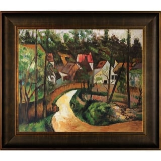 Paul Cezanne Turn in the Road Hand Painted Framed Canvas Art