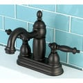 Double Handle Oil Rubbed Bronze Bathroom Faucet