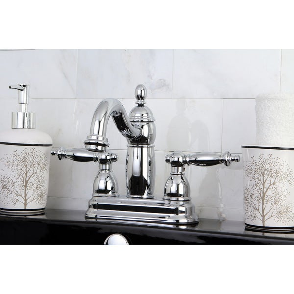Double Handle Polished Chrome Bathroom Faucet
