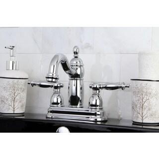 Double Handle Polished Chrome Bathroom Faucet