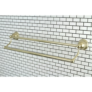 Restoration Polished Brass 24-inch Double Towel Bar