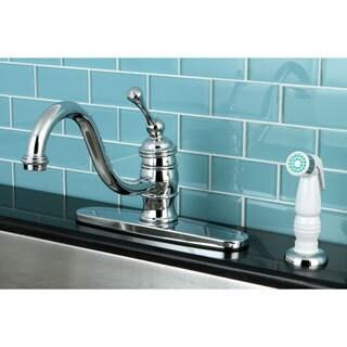 Vintage Polished Chrome 8-inch Centerset Kitchen Faucet