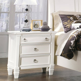 Signature Design by Ashley 'Prentice' White 3-drawer Nightstand