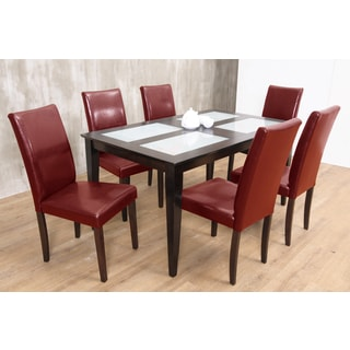 Warehouse of Tiffany's 7-piece Red Shino Dining Set