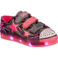 Girls' Skechers Twinkle Toes Boogie Lights Star Stuff Black/Pink