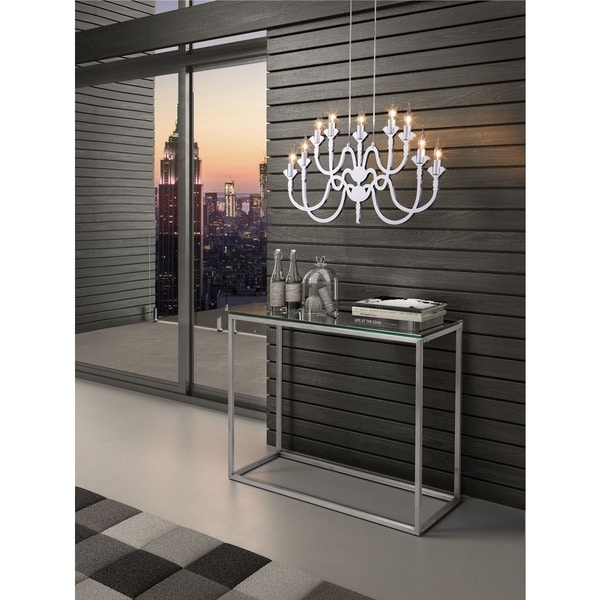 Supercell Silver 9-light Ceiling Lamp