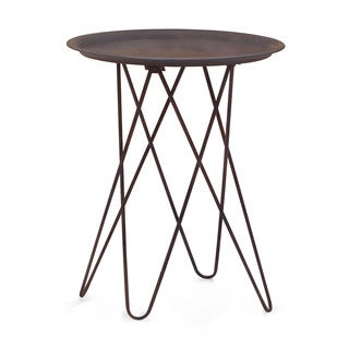 Punk Side Rusted Metal Frame Table