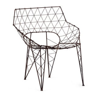 Speed Rusted Metal Frame Chair (Set of 2)