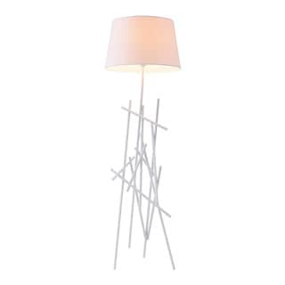Drought Single-light White Metal Floor Lamp