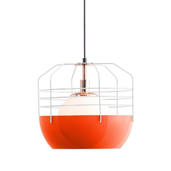Frost Four-light White/ Orange Ceiling Lamp