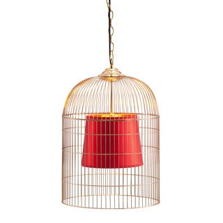 Sprite Small Gold/ Red Ceiling Lamp