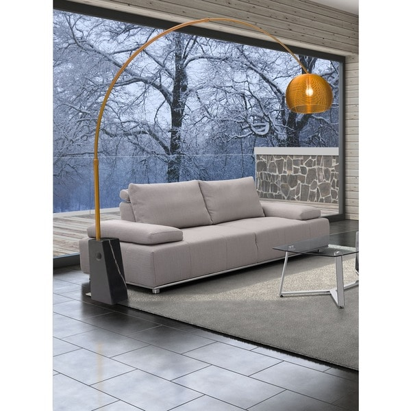 Scion Arched Gold Floor Lamp