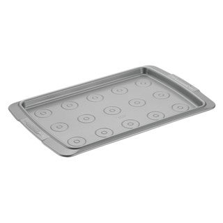 "Cake Boss Deluxe Grey Nonstick Bakeware 11"" x 17"" Cookie Pan with Drop Zones"