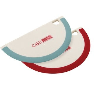 Cake Boss Assorted Nylon Tools and Gadgets Silicone Bowl Scrapers (Set of 2)