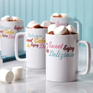 Cake Boss 'Icing & Quotes' Serveware 4-Piece Porcelain Mug Set