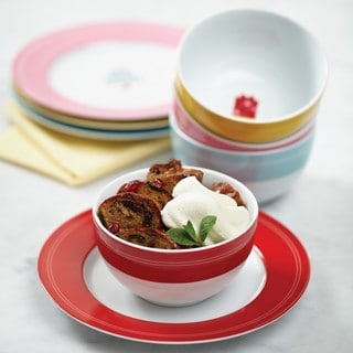 Cake Boss 'Mini Cakes' Serveware 4-Piece Porcelain Dessert Plate Set