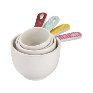 Cake Boss Countertop Accessories 4-piece Basic Pattern Melamine Measuring Cup Set