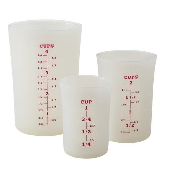 Cake Boss Countertop Accessories White Silicone Liquid Measuring Cups 12957935