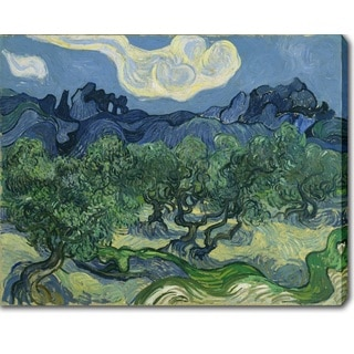 Vincent van Gogh 'Olive Trees with the Alpilles in the Background' Oil on Canvas Art