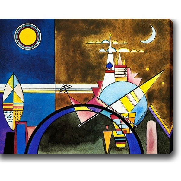 Wassily Kandinsky 'Pictures at an Exhibition' Oil on Canvas Art