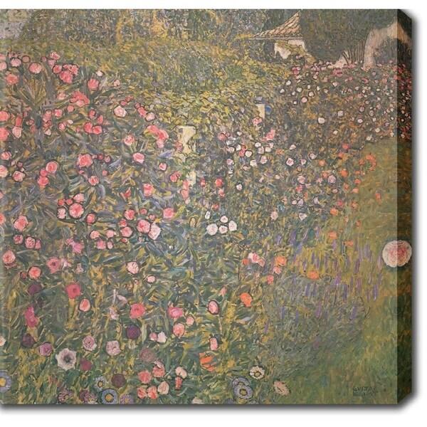 Gustav Klim 'Italian horticultural landscapet' Oil on Canvas Art