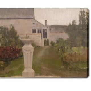 Fernand Khnopff 'Nederlands - De tuinn' Oil on Canvas Art