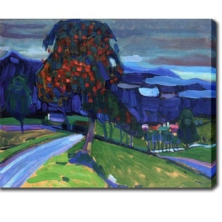 Wassily Kandinsky 'Autumn in Murnau' Oil on Canvas Art
