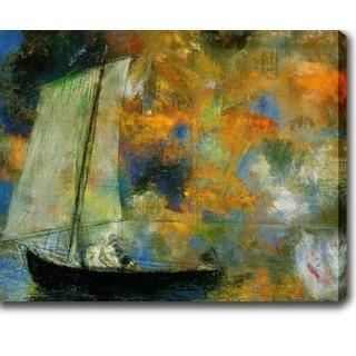 Odilon Redon 'Flower Clouds' Oil on Canvas Art