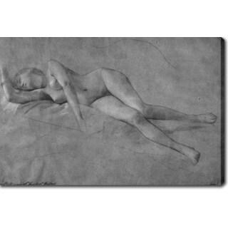 Gustav Klimt 'Female Nude' Oil on Canvas Art