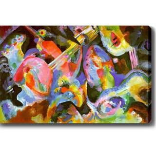 Wassily Kandinsky 'Flood improvisation' Oil on Canvas Art