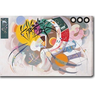 Wassily Kandinsky 'Dominant curve' Oil on Canvas Art
