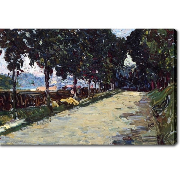 Wassily Kandinsky 'Park of St. Cloud' Oil on Canvas Art