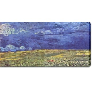 Vincent van Gogh 'Wheat Field Under Clouded Sky' Oil on Canvas Art