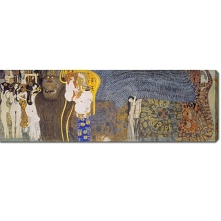 Gustav Klimt 'The Beethoven Frieze- The Hostile Powers. Far Wall' Oil on Canvas Art