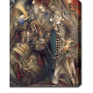 Jean Metzinger 'Dancer in a caf� Artist' Oil on Canvas Art
