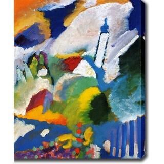 Wassily Kandinsky 'Murnau with a church' Oil on Canvas Art