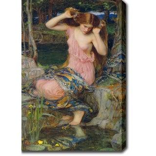 John William 'Waterhouse Lamia' Oil on Canvas Art