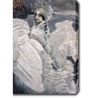 Mikhail Vrubel 'The Swan Princess' Oil on Canvas Art
