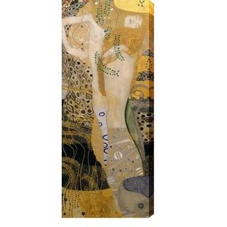 Gustav Klimt 'Water Snakes I' Oil on Canvas Art