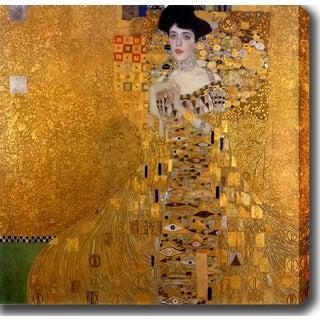 Gustav Klim 'Adele Bloch-Bauer I' Oil on Canvas Art