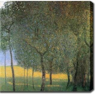 Gustav Klim 'Fruit Trees' Oil on Canvas Art