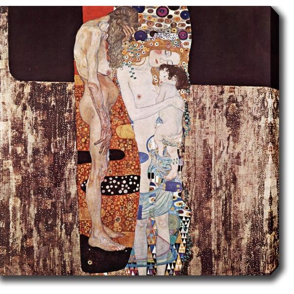 Gustav Klim 'The Three Ages of Woman' Oil on Canvas Art