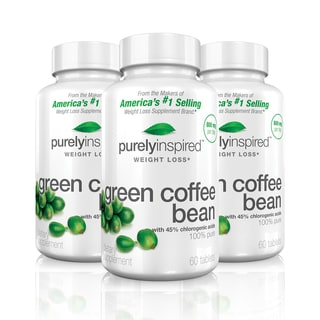 Purely Inspired Green Coffee Bean 60-count Weight Loss Supplements (Pack of 3)
