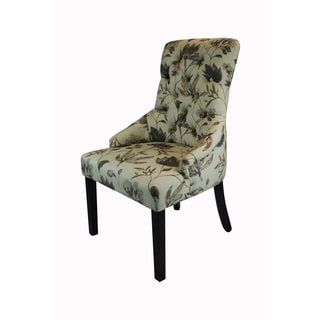 Kantoi Luxury Dining Chair Brown Floral (Set of 2)