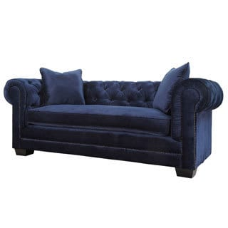 Norwalk Navy Velvet Sofa