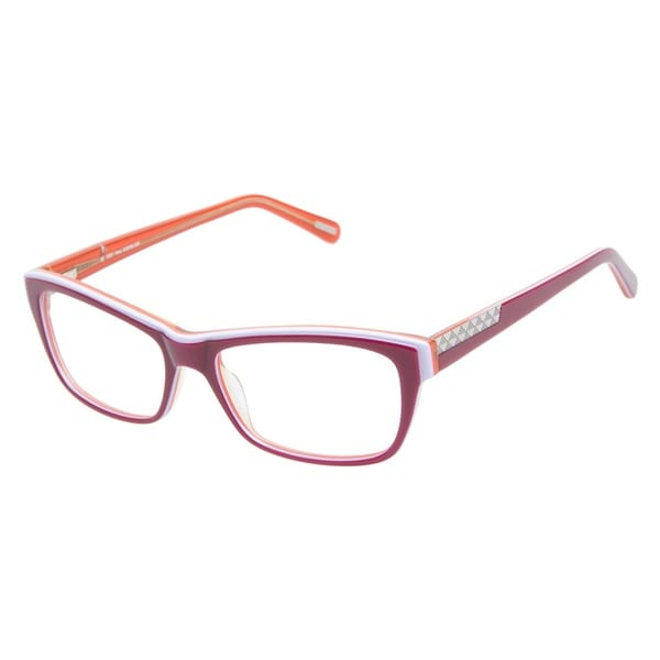 Kam Dhillon 3051 Red Prescription Eyeglasses