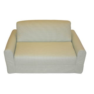 Green Checked Sleeper Sofa