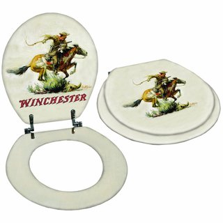 Rockin W Brand Winchester Horse & Rider Toilet Seat